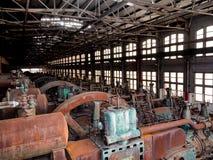 A fábrica de aço no PA de Bethlehem como oxida, e descolora-se com AG fotografia de stock