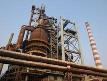 Fábrica de aço velha em China. Fotografia de Stock