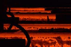 Fábrica de acero Foto de archivo libre de regalías