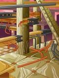 Fábrica de acero abandonada ilustración del vector