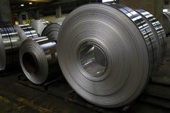 Fábrica de alumínio da folha Fotografia de Stock