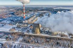 Fábrica de calor y del poder combinados Tyumen Rusia Fotos de archivo libres de regalías