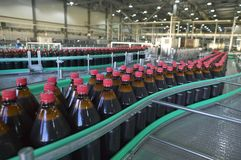 Fábrica de la cerveza Imagen de archivo libre de regalías