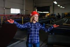 Fábrica de la fabricación de la teja del metal Imagenes de archivo