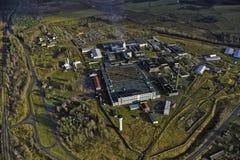 Fábrica de la fibra de vidrio en Valmiera Imagenes de archivo
