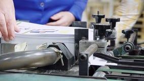 Fábrica de la impresión del transportador almacen de video