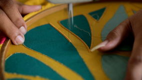 Fábrica de la materia textil metrajes