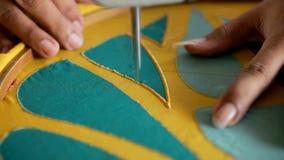 Fábrica de la materia textil almacen de metraje de vídeo