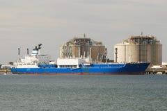 Fábrica de la nave i del portador en España Foto de archivo libre de regalías