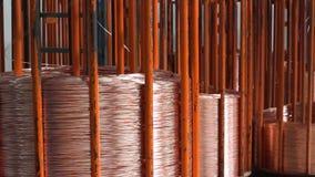 Fábrica de la producción del cable almacen de metraje de vídeo