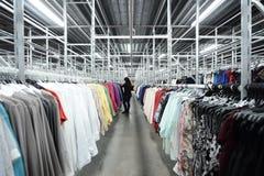 Fábrica de la ropa Foto de archivo libre de regalías