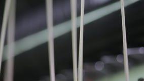 Fábrica de los géneros de punto - ovillo de la toma del hombre almacen de video