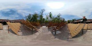 Fábrica de los tallarines en Bantul, Yogyakarta, Indonesia vr360 almacen de metraje de vídeo