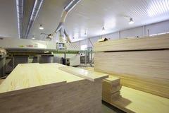 Fábrica de madeira Imagem de Stock Royalty Free