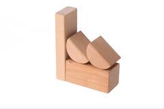 Fábrica de madera del ladrillo Fotos de archivo