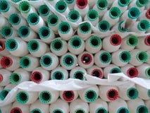 Fábrica de matéria têxtil Fotografia de Stock Royalty Free