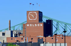 Fábrica de Montreal Molson Fotografia de Stock