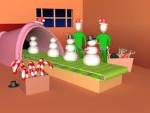 Fábrica de Navidad Imagenes de archivo