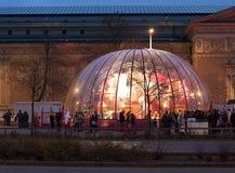 Fábrica de Papai Noel em Budapest Fotos de Stock