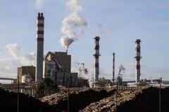 Fábrica de papel industrial Foto de Stock Royalty Free