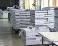 Fábrica de papel foto de stock royalty free