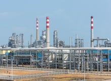 Fábrica de processamento do gás Paisagem Fotografia de Stock Royalty Free
