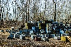 Fábrica de productos químicos de Krasnoyarsk Yenisei Fotos de archivo libres de regalías