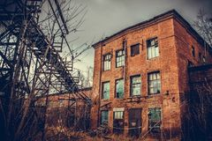 Fábrica de productos químicos de Krasnoyarsk Yenisei Fotografía de archivo