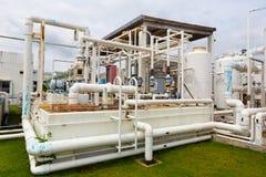 Fábrica de productos químicos del nitrógeno Fotografía de archivo