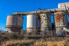Fábrica de productos químicos industrial Foto de archivo libre de regalías