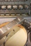 Fábrica de queijo Imagens de Stock