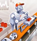 Fábrica de robô Imagem de Stock Royalty Free