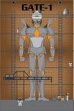 Fábrica de robot ilustración del vector