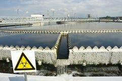 Fábrica de tratamento da água de esgoto Foto de Stock