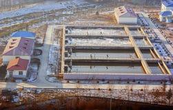 Fábrica de tratamento da água de esgoto Imagem de Stock Royalty Free