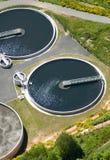 Fábrica de tratamento da água de esgoto Fotografia de Stock Royalty Free