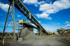 Fábrica de tratamento da mineração imagem de stock