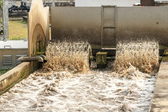 Fábrica de tratamento das águas residuais. Fotos de Stock Royalty Free
