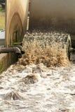 Fábrica de tratamento das águas residuais. Fotografia de Stock