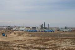 Fábrica de tratamento do gás. fotografia de stock royalty free