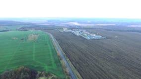 Fábrica de tratamento do gás Tiro de Quadcopter filme