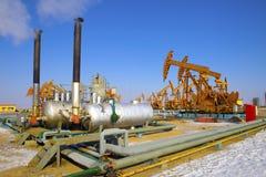 Fábrica de tratamento do petróleo e gás Foto de Stock