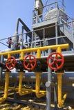 Fábrica de tratamento do petróleo e gás Foto de Stock Royalty Free