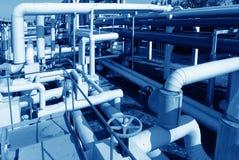 Fábrica de tratamento do petróleo e gás Fotos de Stock