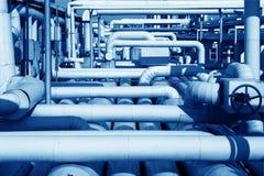Fábrica de tratamento do petróleo e gás Imagens de Stock