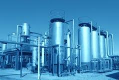 Fábrica de tratamento do petróleo e gás Imagem de Stock Royalty Free