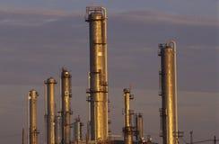 Fábrica de tratamento do petróleo em Sarnia, Canadá fotos de stock