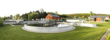 Fábrica de tratamento do Wastewater Imagens de Stock