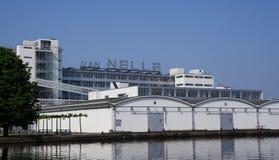 Fábrica de Van Nelle em Rotterdam, os Países Baixos imagem de stock