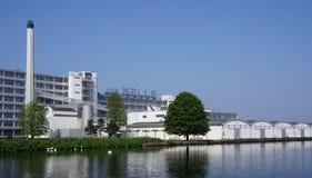 Fábrica de Van Nelle em Rotterdam, os Países Baixos fotografia de stock royalty free
